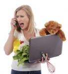 femme débordée,internet,parfaite,syndrome